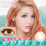 Honey Drops 14.0mm 1 Day Shine - 小さい兎USAGICONTACTカラコン通販 | 日本美瞳 | Japanese Color Contact Lenses Shop
