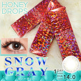 Honey Drops 14.0mm 1 Day SnowGray - 小さい兎USAGICONTACTカラコン通販 | 日本美瞳 | Japanese Color Contact Lenses Shop