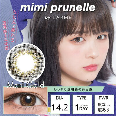 Mimiprunelle by LARME 1 Day Mari Gold - 小さい兎USAGICONTACTカラコン通販 | 日本美瞳 | Japanese Color Contact Lenses Shop