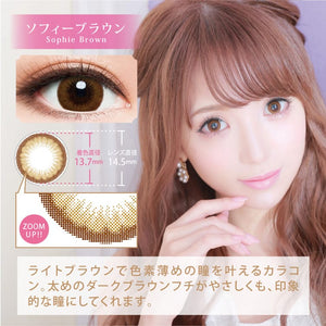 Chipi 1 Day SophieBrown - 小さい兎USAGICONTACTカラコン通販 | 日本美瞳 | Japanese Color Contact Lenses Shop