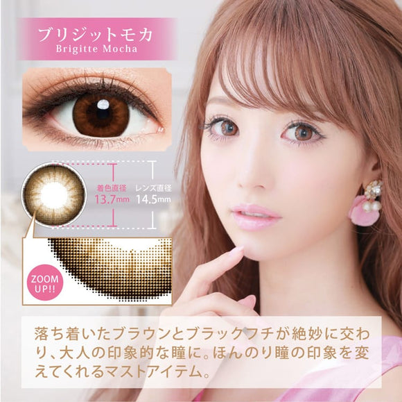 Chipi 1 Day BrigitteMocha - 小さい兎USAGICONTACTカラコン通販 | 日本美瞳 | Japanese Color Contact Lenses Shop