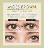 TeAmo Grunge Monthly MossBrown - 小さい兎USAGICONTACTカラコン通販 | 日本美瞳 | Japanese Color Contact Lenses Shop