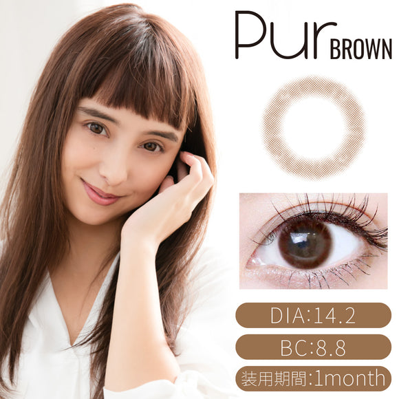TeAmo Monthly PurBrown - 小さい兎USAGICONTACTカラコン通販 | 日本美瞳 | Japanese Color Contact Lenses Shop