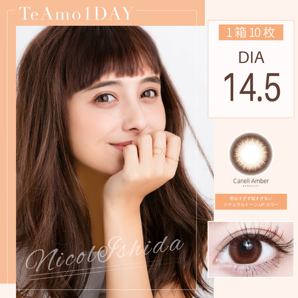 TeAmo 1 Day CanellAmber - 小さい兎USAGICONTACTカラコン通販 | 日本美瞳 | Japanese Color Contact Lenses Shop