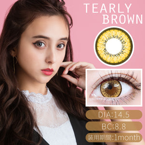 TeAmo Glamorous Monthly TearlyBrown - 小さい兎USAGICONTACTカラコン通販 | 日本美瞳 | Japanese Color Contact Lenses Shop
