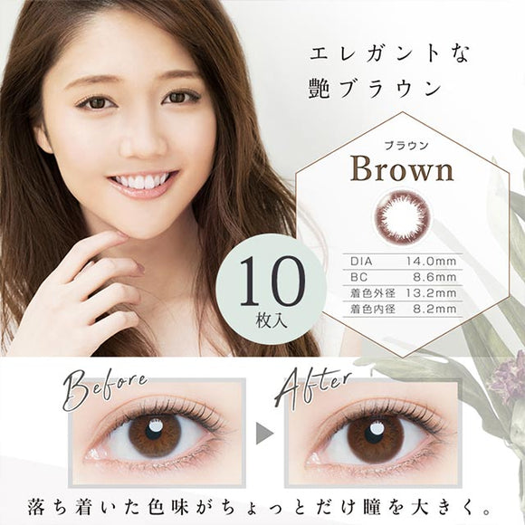 Artiral UVM 1 Day Brown - 小さい兎USAGICONTACTカラコン通販 | 日本美瞳 | Japanese Color Contact Lenses Shop