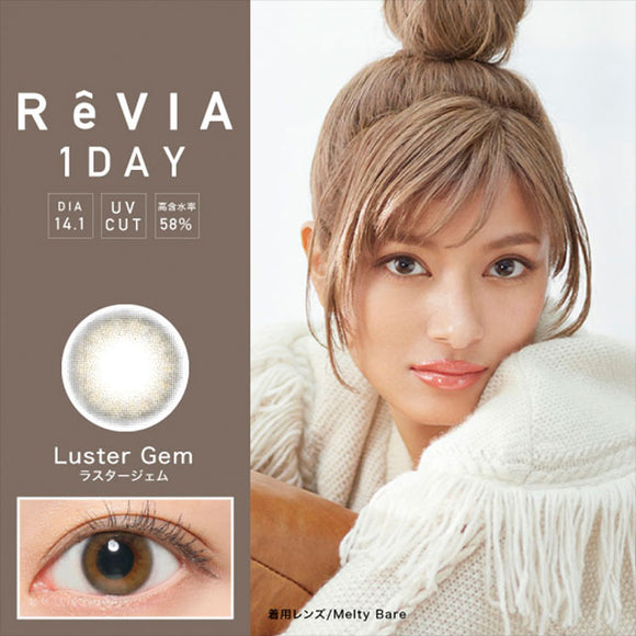 ReVIA 1 Day LusterGem - 小さい兎USAGICONTACTカラコン通販 | 日本美瞳 | Japanese Color Contact Lenses Shop