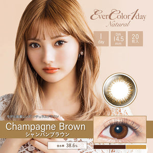 EverColor 1 Day Natural ChampagneBrown - 小さい兎USAGICONTACTカラコン通販 | 日本美瞳 | Japanese Color Contact Lenses Shop