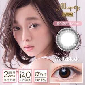 Allegro 2 Week WaltzBlack - 小さい兎USAGICONTACTカラコン通販 | 日本美瞳 | Japanese Color Contact Lenses Shop