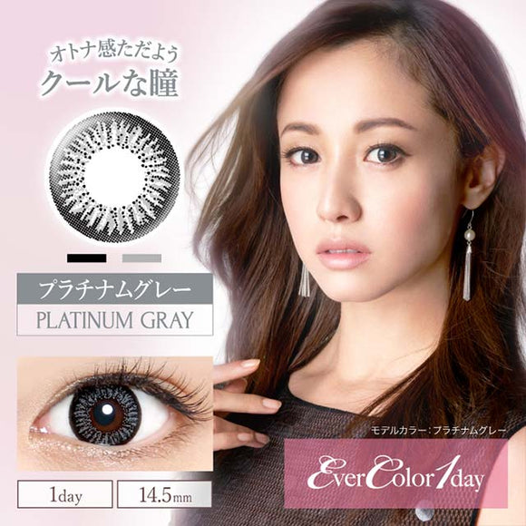 EverColor 1 Day PlatinumGray - 小さい兎USAGICONTACTカラコン通販 | 日本美瞳 | Japanese Color Contact Lenses Shop