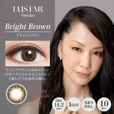 LUSTAR 1 Day BrightBrown - 小さい兎USAGICONTACTカラコン通販 | 日本美瞳 | Japanese Color Contact Lenses Shop
