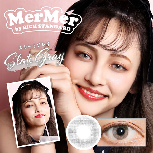MerMer by RICH STANDARD SlateGray - 小さい兎USAGICONTACTカラコン通販 | 日本美瞳 | Japanese Color Contact Lenses Shop