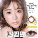 Aqualina Colore 1 Day CacaoBrown - 小さい兎USAGICONTACTカラコン通販 | 日本美瞳 | Japanese Color Contact Lenses Shop