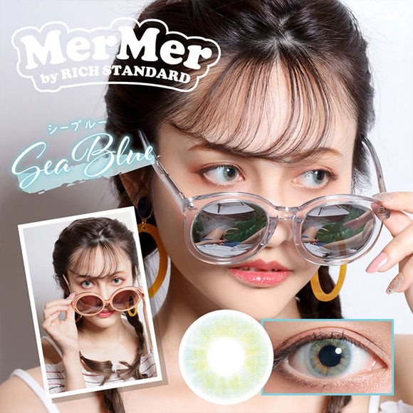 MerMer by RICH STANDARD SeaBlue - 小さい兎USAGICONTACTカラコン通販 | 日本美瞳 | Japanese Color Contact Lenses Shop