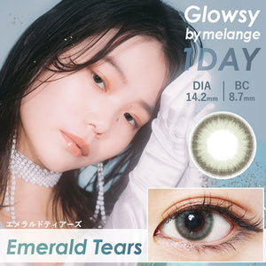 Glowsy by Melange 1 Day EmeraldTears - 小さい兎USAGICONTACTカラコン通販 | 日本美瞳 | Japanese Color Contact Lenses Shop
