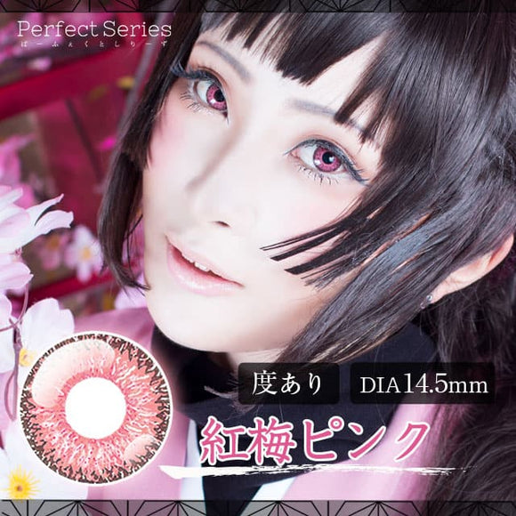 PerfectSeries 1 Day 紅梅ピンク - 小さい兎USAGICONTACTカラコン通販 | 日本美瞳 | Japanese Color Contact Lenses Shop