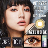 #IT EYES 1 Day HazelBeige - 小さい兎USAGICONTACTカラコン通販 | 日本美瞳 | Japanese Color Contact Lenses Shop
