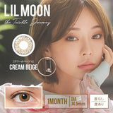 LILMOON Monthly CreamBeige - 小さい兎USAGICONTACTカラコン通販 | 日本美瞳 | Japanese Color Contact Lenses Shop