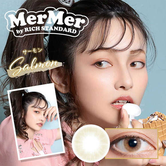MerMer by RICH STANDARD Salmon - 小さい兎USAGICONTACTカラコン通販 | 日本美瞳 | Japanese Color Contact Lenses Shop