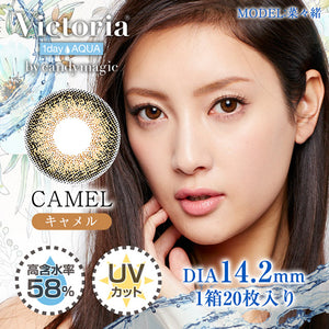 Victoria 1 Day Aqua Camel - 小さい兎USAGICONTACTカラコン通販 | 日本美瞳 | Japanese Color Contact Lenses Shop