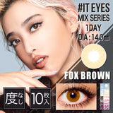 #IT EYES 1 Day FoxBrown - 小さい兎USAGICONTACTカラコン通販 | 日本美瞳 | Japanese Color Contact Lenses Shop