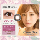 Calme D'or 1 Day Vivid Brown+Black - 小さい兎USAGICONTACTカラコン通販 | 日本美瞳 | Japanese Color Contact Lenses Shop