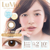 LuMia 1 Day 14.2 NudyBrown - 小さい兎USAGICONTACTカラコン通販 | 日本美瞳 | Japanese Color Contact Lenses Shop