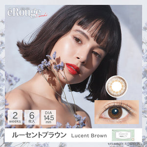 eRouge 2 Week LucentBrown - 小さい兎USAGICONTACTカラコン通販 | 日本美瞳 | Japanese Color Contact Lenses Shop