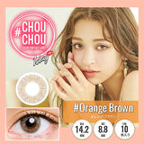 # Chou Chou 1 Day #OrangeBrown - 小さい兎USAGICONTACTカラコン通販 | 日本美瞳 | Japanese Color Contact Lenses Shop