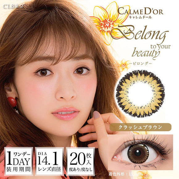 Calme D'or 1 Day Belong CrushedBrown - 小さい兎USAGICONTACTカラコン通販 | 日本美瞳 | Japanese Color Contact Lenses Shop