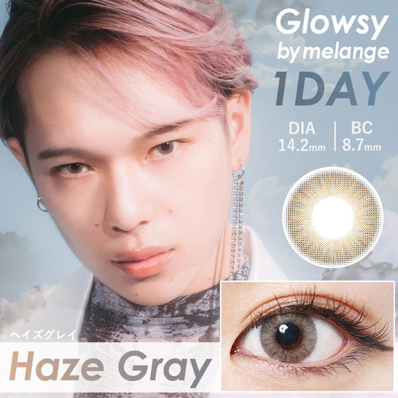 Glowsy by Melange 1 Day HazeGray - 小さい兎USAGICONTACTカラコン通販 | 日本美瞳 | Japanese Color Contact Lenses Shop