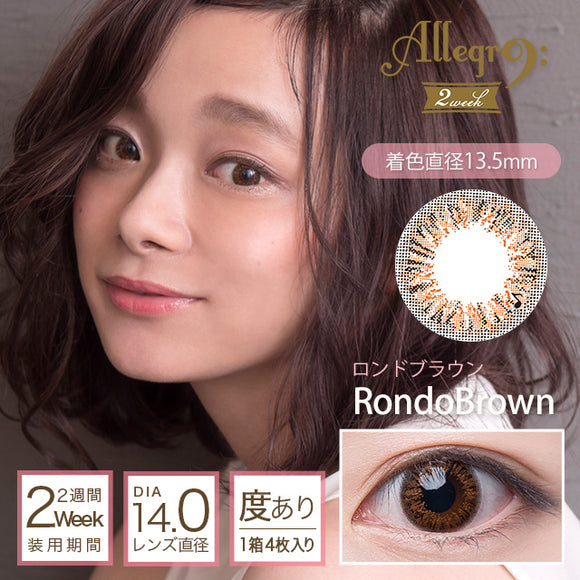 Allegro 2 Week RondoBrown - 小さい兎USAGICONTACTカラコン通販 | 日本美瞳 | Japanese Color Contact Lenses Shop
