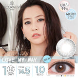 Decorative Eyes UV Moist 1 Day No7. LoveMyWay - 小さい兎USAGICONTACTカラコン通販 | 日本美瞳 | Japanese Color Contact Lenses Shop