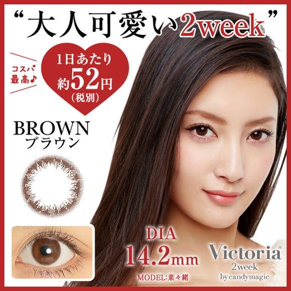 Victoria 2 Week Brown - 小さい兎USAGICONTACTカラコン通販 | 日本美瞳 | Japanese Color Contact Lenses Shop