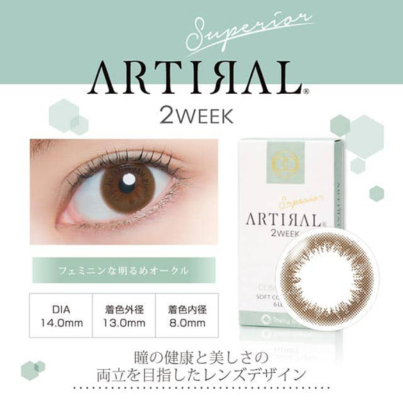 Artiral 2 Week Ochre - 小さい兎USAGICONTACTカラコン通販 | 日本美瞳 | Japanese Color Contact Lenses Shop