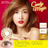 Candy Magic Monthly Crystal Series Gold - 小さい兎USAGICONTACTカラコン通販 | 日本美瞳 | Japanese Color Contact Lenses Shop