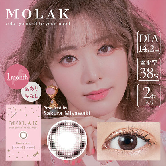 MOLAK Monthly SakuraPetal - 小さい兎USAGICONTACTカラコン通販 | 日本美瞳 | Japanese Color Contact Lenses Shop