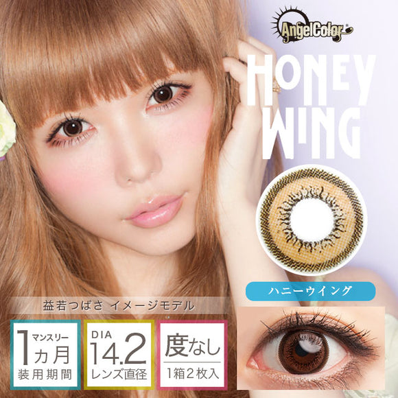 Angelcolor Wing Monthly HoneyWing - 小さい兎USAGICONTACTカラコン通販 | 日本美瞳 | Japanese Color Contact Lenses Shop