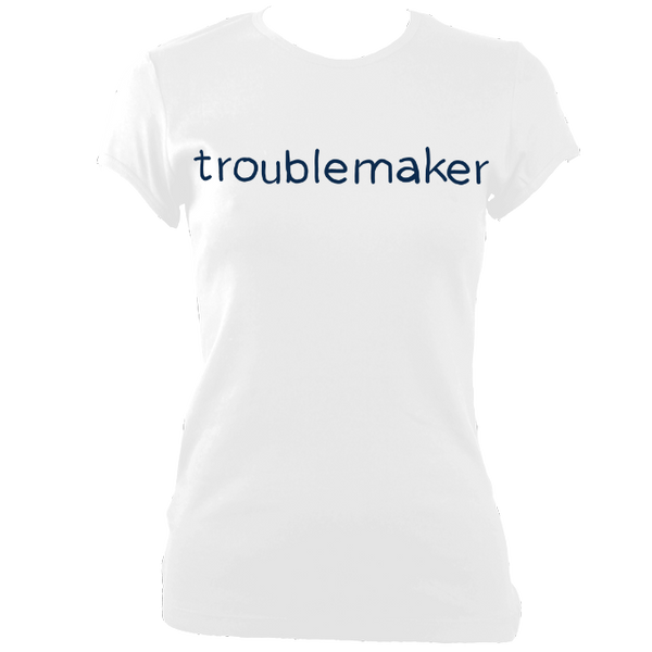 troublemaker Ladies' Fitted Color Print T-Shirt - 3 colours