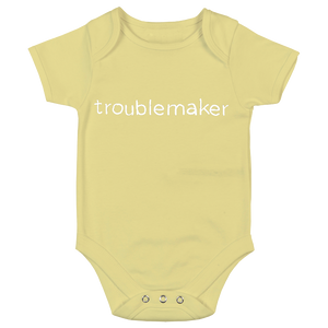 Troublemaker Reverse Print Babygrow - 7 colours