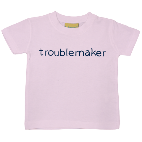 Troublemaker Baby/Toddler Colour Print T-Shirt - 6 colours