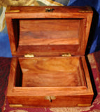 "Wood Treasure Chest - 4"" x 6"""