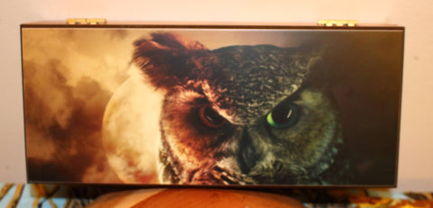 Cedar Keepsake Box - Great Horned Owl
