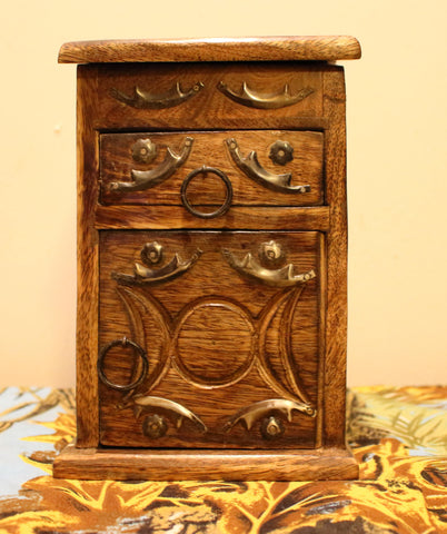 Wood Cabinet - Triple Moon/Triple Goddess