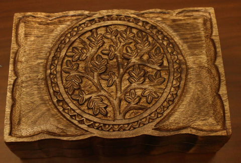 "Wood Box - Tree of Life - 9""x 6"""