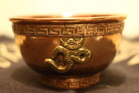 Copper Offering Bowl - Om
