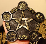 Candle Holder Altar Tile - Pentacle