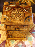 Pentacle Wooden Storage Box, Pentacle Almirah