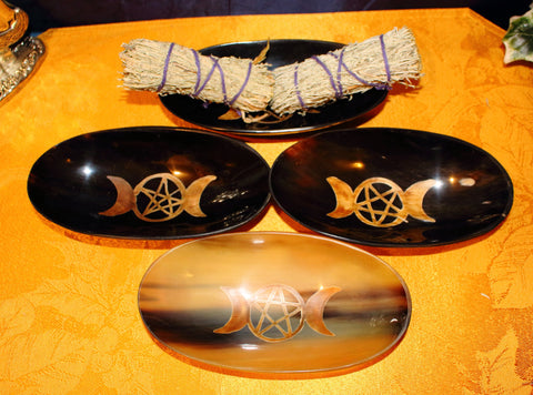 Triple Moon Horn Bowl Smudge Kit