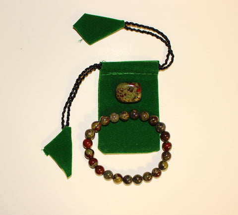 Dragon Blood Jasper Bracelet Set